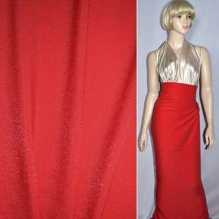 Вискоза с органзой костюмная диагональ красная, ш.150