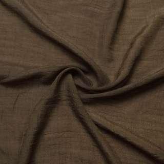 Вискоза жатая коричневая ш.150