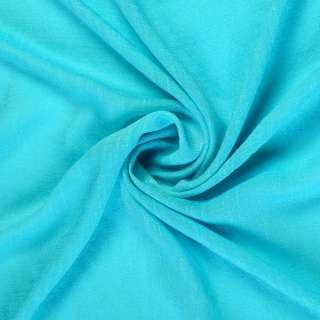 Вискоза жатая ярко голубая ш.150