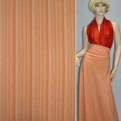 габардин стрейч оранжевый в персиковую полоску ш.150