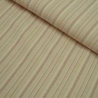 Габардин стрейч песочный в коричневую полоску ш.150