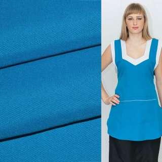 Габардин блакитний насичений ш.150