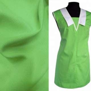 габардин однотон. ярко-зеленый ш.150