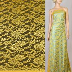Гипюр желтый, ш.150
