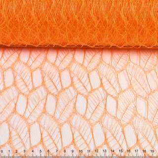 """Гіпюр жорсткий """"листя"""" помаранчевий, ш.160"""