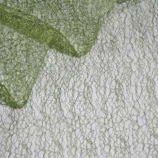 Паутинка жесткая зеленая темная ш.150