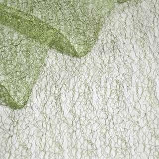 Паутинка жесткая зеленая светлая ш.150