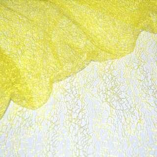 гипюр-паутинка желтая люминисц. ш.150