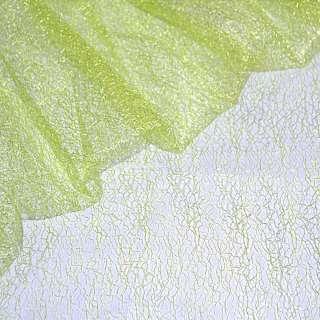 гипюр-паутинка салатово-желтая ш.150