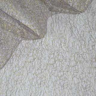 Гипюр-паутинка фиолетовая светлая с золотым люрексом ш.150