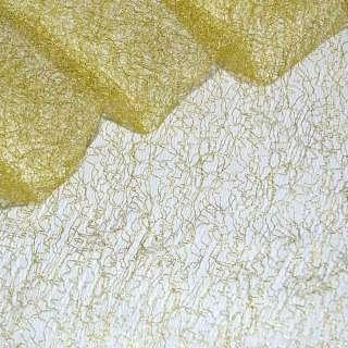 гипюр-паутинка желтая с золотист. люрексом ш.160
