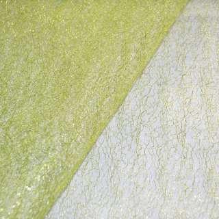 гипюр-паутинка лимонная с люрексом ш.160