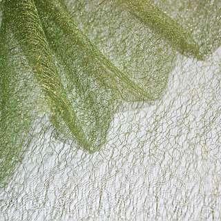 гипюр-паутинка зеленая с золот. люрексом ш.160