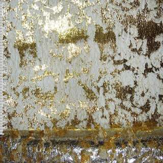 гипюр-паутина золотистая с золот. штампом ш.155