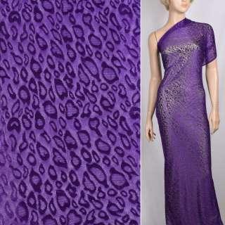 Гипюр стрейч фиолетовый с каплями ш.150