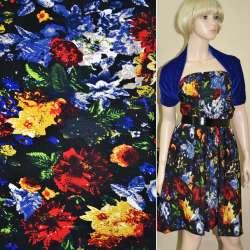 Микродайвинг черный с красно синими цветами ш.170