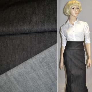 коттон-джинс темно-серый ш.145