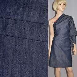 Коттон-джинс стрейч серый светлый с синим оттенком ш.165