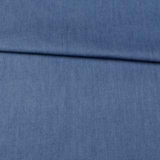 Джинс голубой темный, дублированный флизелином, ш.150