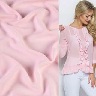 Креп стрейч бледно розовый ш.150