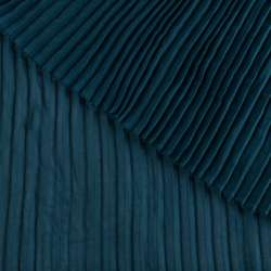 Креп гофре темно-бірюзовий ш.140 (продається в натягнутому вигляді)