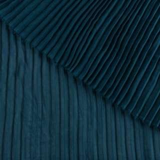 Креп гофре темно-бирюзовый ш.140 (продается в натянутом виде)