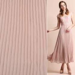 Креп гофре блідо-рожевий ш.140 (продається в натягнутому вигляді)