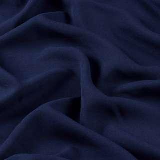 Креп стрейч синій темний ш.150