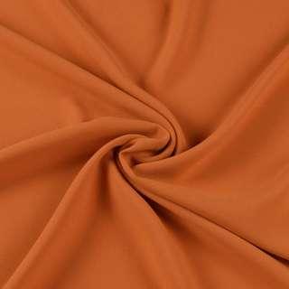 Бистрейч креп плательный коричнево-рыжий, ш.150
