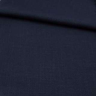Креп льон стрейч синій темний, ш.150