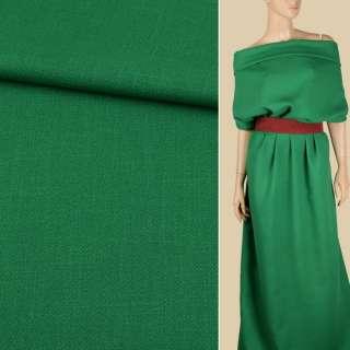 Креп лен стрейч зеленый яркий, ш.150
