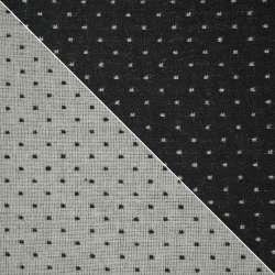 Жаккард костюмный 2-ст. черно-белый крапки ш.154
