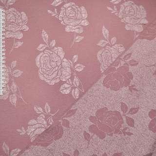 Фукра розовая в розы