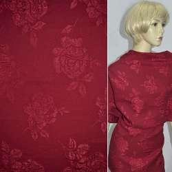 Фукра бордовая с розами, ш.130