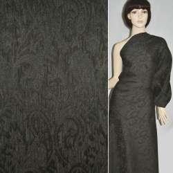 Фукра черная с коричневыми огурцами, ш.130