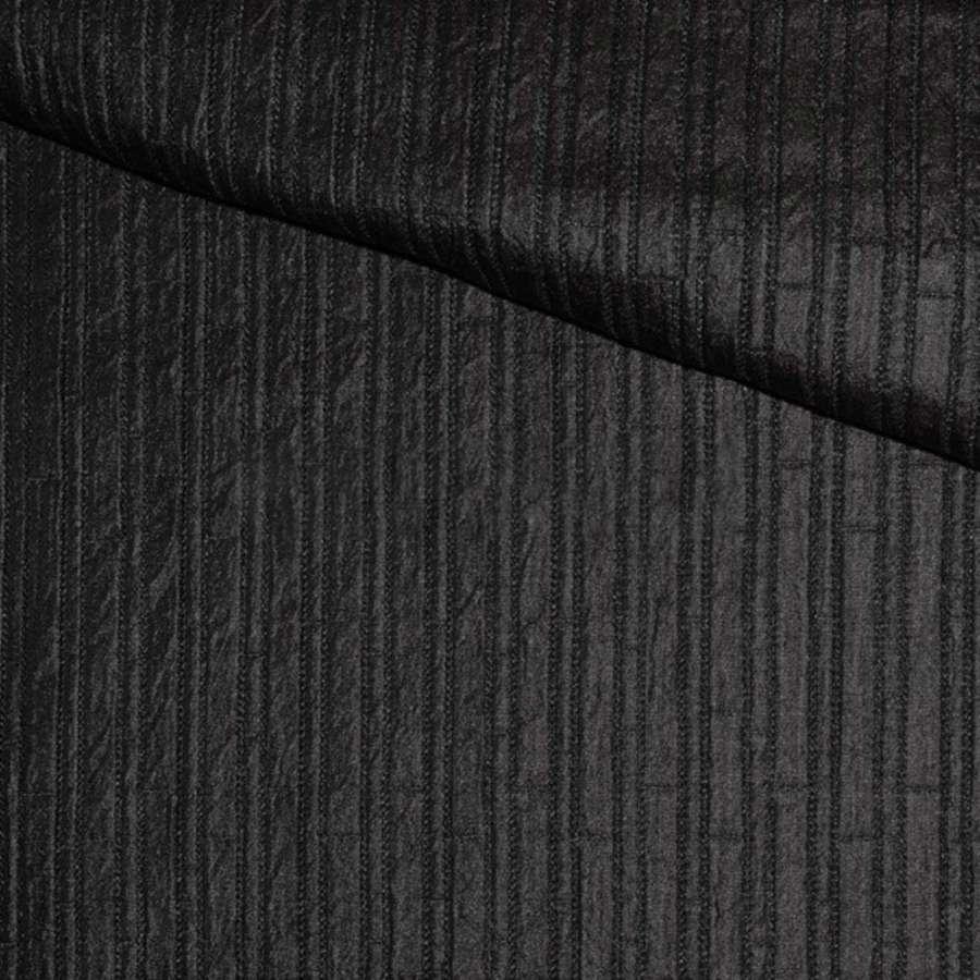 Фукра черная в полоску, ш.140
