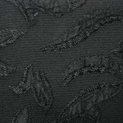 Фукра черная с черным рисунком