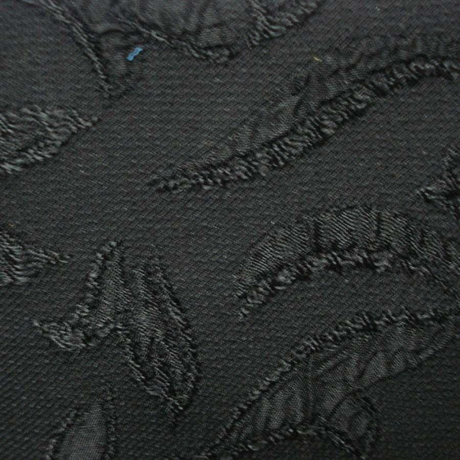 Фукра чорна з чорним малюнком