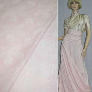 фукра розовая с крупными светлыми цветами