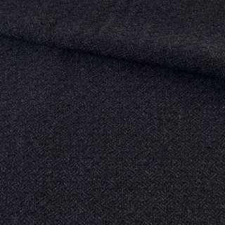 Твид черно-синий ромбы, ш.145