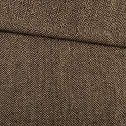 Твид елочка бежево-коричневый, ш.150