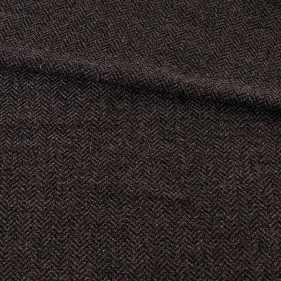 Твид елочка серо-черный 13мм, ш.145