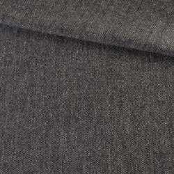 Твид елочка серый темный с узелками, ш.140