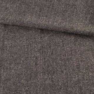 Твид елочка серо-черный с узелками, ш.145