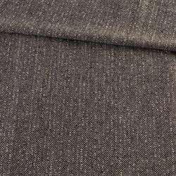 Твид елочка бежево-черный с узелками, ш.145