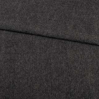 Твид елочка серо-черный, ш.150
