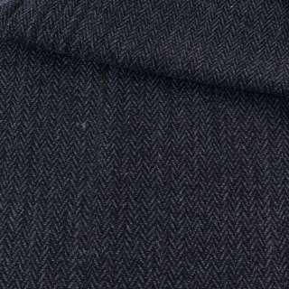Твид елочка черно-синий, ш.145