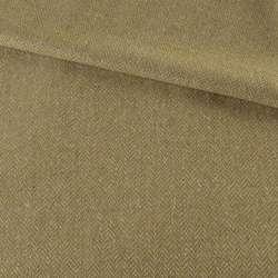 Твид елочка бежевый с цветными вкраплениями, ш.150