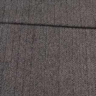 Твід ялинка чорно-білий 40мм, ш.150