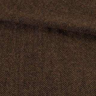 Твид елочка коричневый темный, ш.150